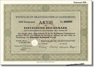Westfälische Drahtindustrie zu Hamm AG