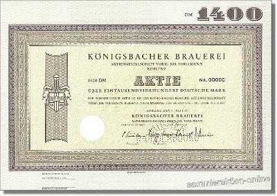 Königsbacher Brauerei AG vorm. Jos. Thillmann