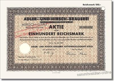 Adler- und Hirsch-Brauerei AG, Hirsch-Bräu