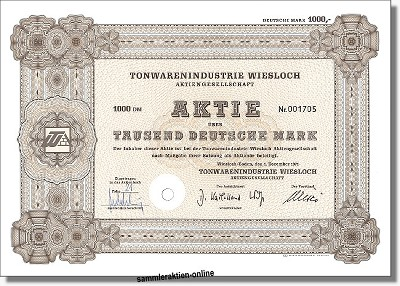 Tonwarenindustrie Wiesloch Aktiengesellschaft