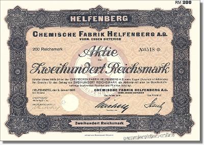 Chemische Fabrik Helfenberg vorm. Eugen Dietrich