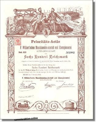 F. Wöhlert'sche Maschinenbau-Anstalt und Eisengiesserei Actien-Gesellschaft