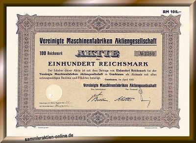 Vereinigte Maschinenfabriken Aktiengesellschaft
