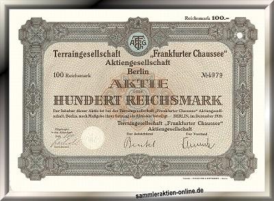 Terraingesellschaft Frankfurter Chaussee AG
