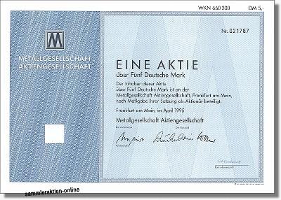 Metallgesellschaft AG, jetzt GEA Group AG