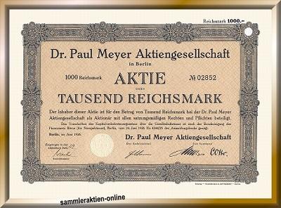 Dr. Paul Meyer Aktiengesellschaft