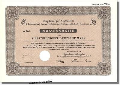 Magdeburger Allgemeine Lebens- und Rentenversicherungs-Aktiengesellschaft