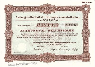 Aktiengesellschaft für Strumpfwarenfabrikation vorm. Max Segall