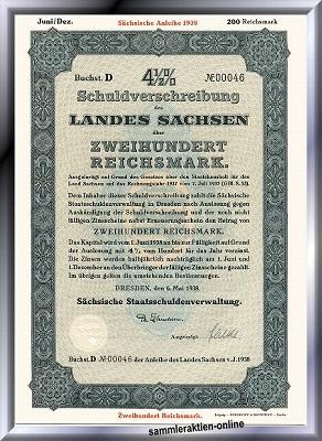 Sachsen, Land Sachsen