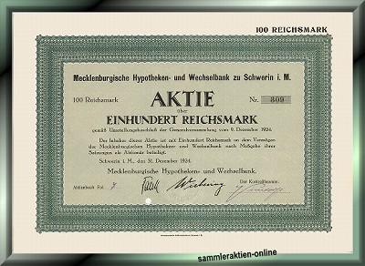 Mecklenburgische Hypotheken- und Wechselbank