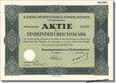 Kammgarnspinnerei Kaiserslautern AG