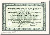Warsteiner und Herzoglich Schleswig-Holsteinische Eisenwerke Aktiengesellschaft