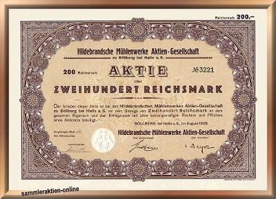 Hildebrandsche Mühlenwerke Actien-Gesellschaft zu Böllberg