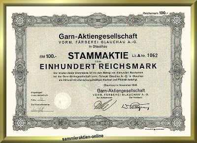 Garn-Aktiengesellschaft vorm. Färberei Glauchau