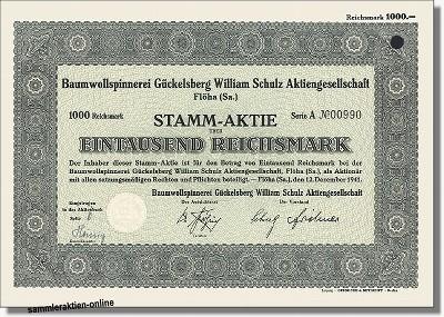 Baumwollspinnerei Gückelsberg William Schulz AG