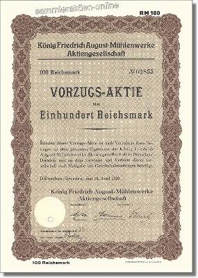 König Friedrich August-Mühlenwerke AG