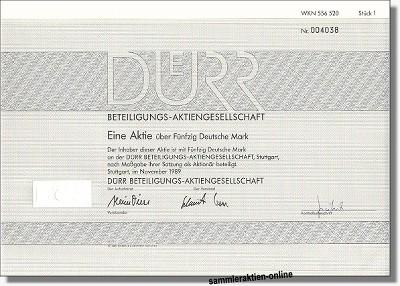 Dürr Beteiligungs-AG