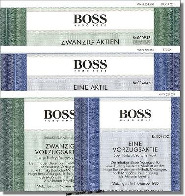 HUGO BOSS AG - 4 verschiedene Aktien