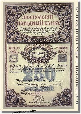 Moskovskij Narodnyj Bank - Volksbank Moskau