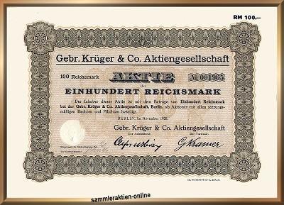 Gebr. Krüger & Co. AG, später LEWAG AG