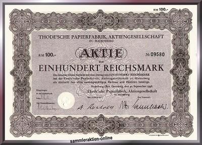 Thode'sche Papierfabrik AG
