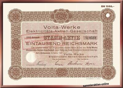 Volta-Werke Elektricitäts-AG