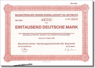 Baumaterialien Handelsgesellschaft AG
