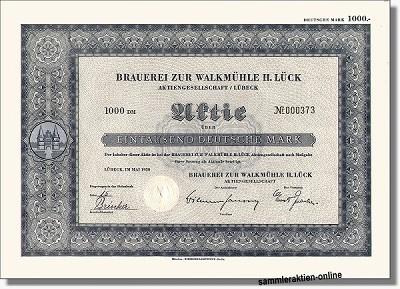 Brauerei zur Walkmühle H. Lück Aktiengesellschaft