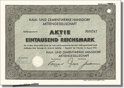 Kalk- und Zementwerke Hansdorf AG