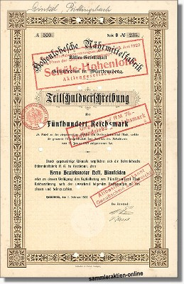 Hohenlohesche Nährmittelfabrik Schüle