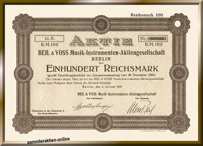 Beil & Voss Musik-Instrumenten-AG