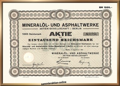 Mineralöl- und Asphaltwerke AG, heute TOTAL