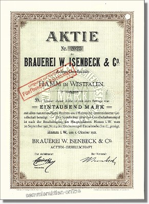 Brauerei W. Isenbeck & Co. Actien-Gesellschaft