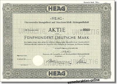 HEAG - Hannoversche Eisengießerei und Maschinenfabrik