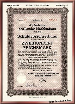 Mecklenburg Landesanleihe