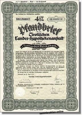 Tirolische Landes-Hypothekenanstalt