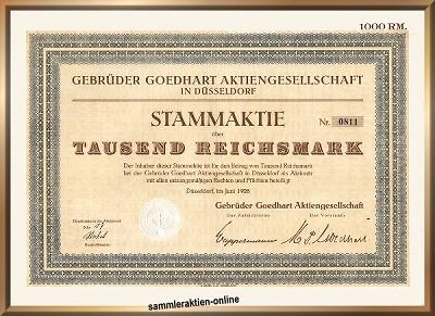 Gebrüder Goedhart AG