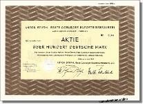 Anton Sturm, Erste Coburger Exportbierbrauerei