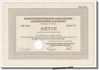 Maschinenfabrik Esslingen AG