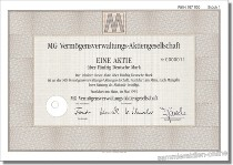 MG Vermögensverwaltungs-AG - Metallgesellschaft