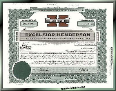Excelsior-Henderson Motorcycle Manufacturing