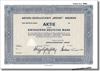 Aktien-Gesellschaft Weser