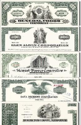 Geschenkset Wirtschaft und Industrie - USA Nr.12 - 5 div. Papiere