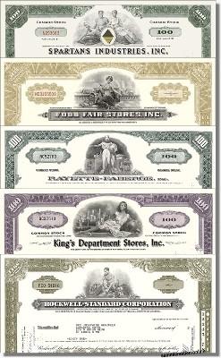 Geschenkset Wirtschaft und Industrie - USA Nr.15 - 5 div. Papiere