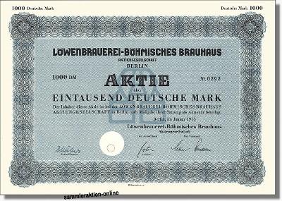 Löwenbrauerei Böhmisches Brauhaus AG zu Berlin