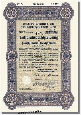 Preußische Bergwerks- und Hütten AG - Preussag
