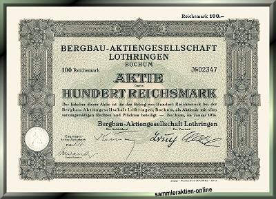 Bergbau-Aktiengesellschaft Lothringen