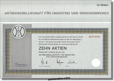 Aktiengesellschaft für Industrie und Verkehrswesen - AGIV