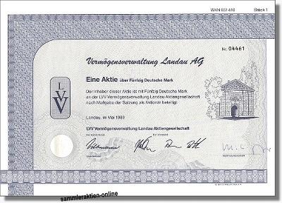 VVL Vermögensverwaltung Landau AG
