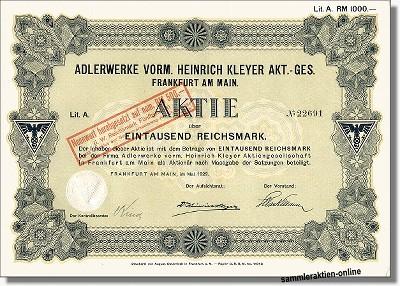 Adlerwerke vorm. Heinrich Kleyer AG